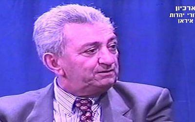 Former Israeli ambassador to Iran, Meir Ezri. (YouTube/Persian TV channel in Israel)