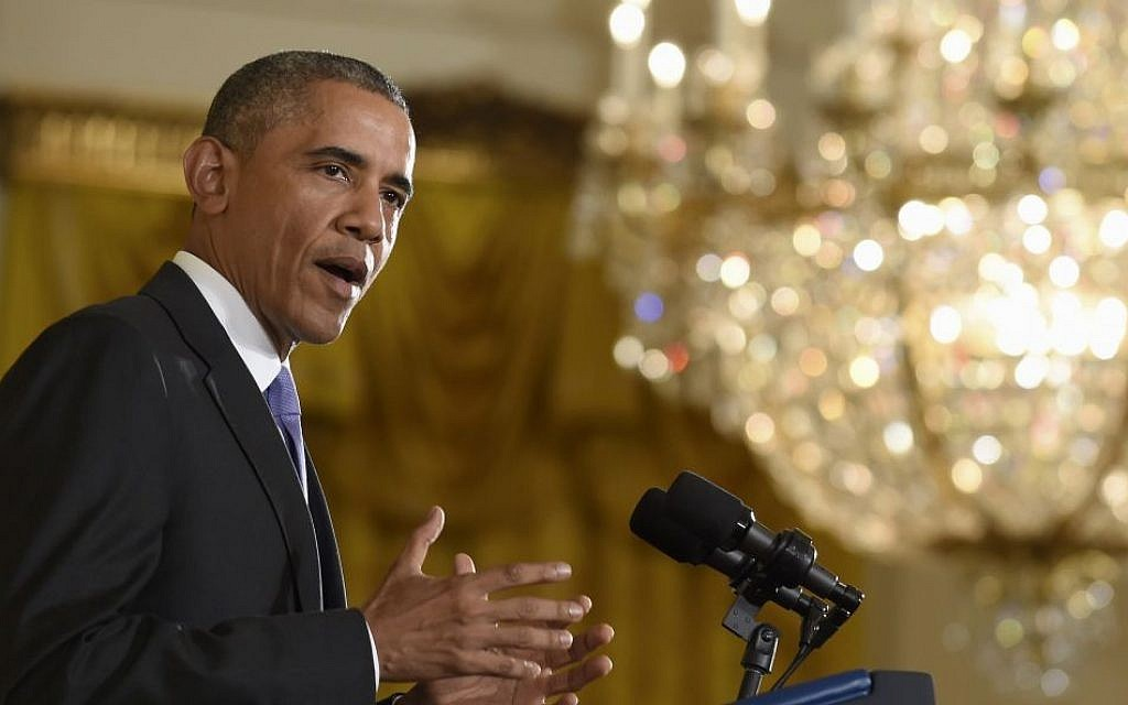 President Barack Obama answers questions about the Iran nuclear deal during a news conference at the White House in Washington, July 15, 2015. (AP/Susan Walsh)