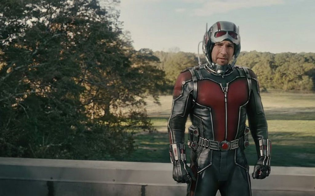 The biggest little superhero, Paul Rudd in 'Ant-man' (YouTube screenshot)