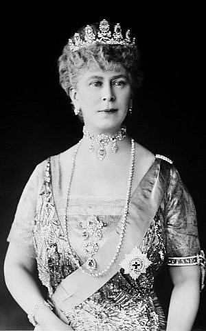 Queen Mary of the United Kingdom, also known as Mary of Teck, was the Queen consort of George V and the grandmother of Queen Elizabeth II. (public domain via wikipedia)