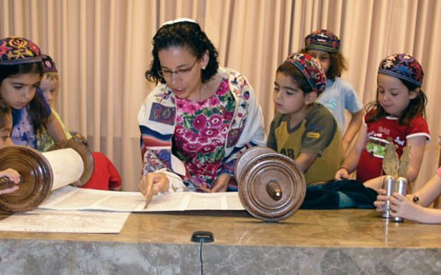 A Jewish Agency-supported Reform service in Israel. (courtesy JAFI)