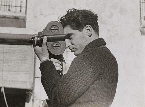 Photographer Robert Capa during the Spanish civil war, May 1937. (Photo by Gerda Taro)