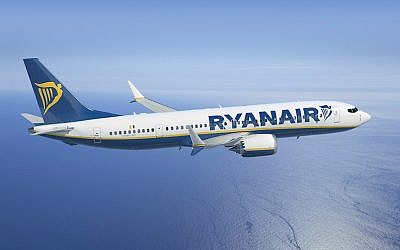 A RyanAir Boeing 737 plane (Courtesy)