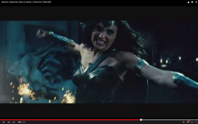 Gal Gadot as seen in the trailer for Batman v Superman