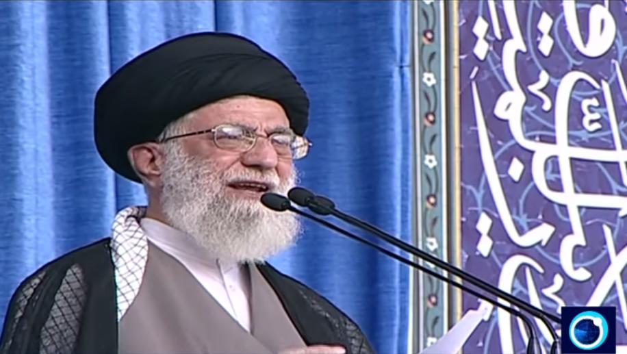 Iran's Supreme Leader Ayatollah Ali Khamenei speaks in Tehran on July 18, 2015 (Iran Press TV screenshot)