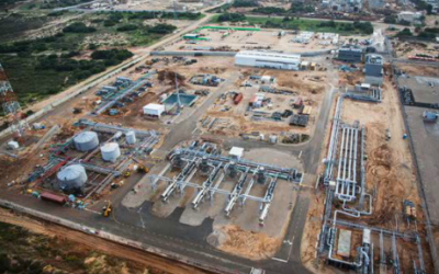 An aerial view of the Ashdod Onshore Terminal, which receives the gas and condensate flow from Tamar. The existing site was adapted to receive offshore natural gas from Tamar. (Courtesy Noble Energy)