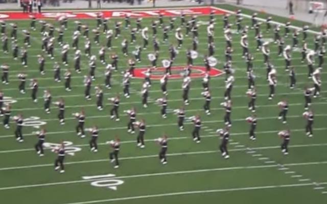 Ohio State U. marching band (YouTube screenshot)