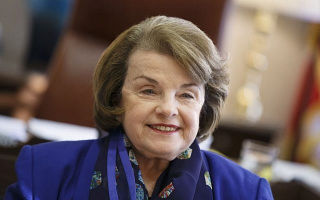 Democratic Senator Dianne Feinstein in her Capitol Hill office in Washington, DC, Debruary 11, 2015. (AP/J. Scott Applewhite)