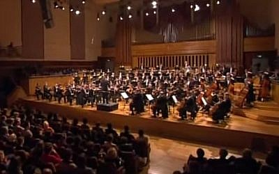 The Brussels Philharmonic in Concert in Brussels, Belgium, in 2009 (screen capture: YouTube)