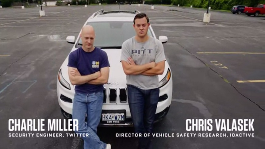 White hat hackers Charlie Miller and Chris Valasek (Youtube screenshot)