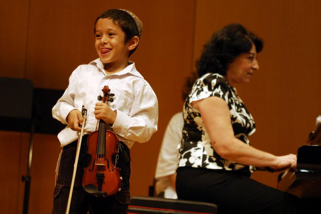 A young virtuoso at the Keshet Eilon strings festival last year (Courtesy Keshet Eilon)