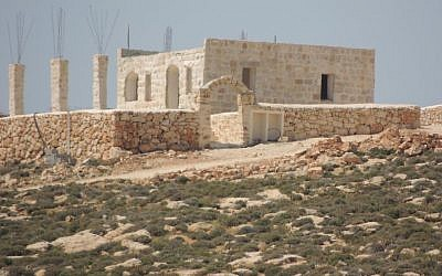 A large stone structure at the Ma'ale Amos West outpost (Peace Now)