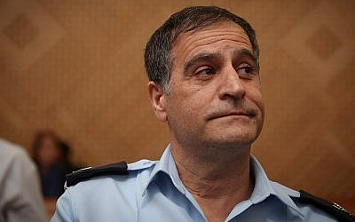 Chief superintendent Efraim Bracha seen at the Supreme Court in Jerusalem on October 20, 2014. Bracha committed suicide on Sunday, July 5 2015. (Hadas Parush/Flash90)