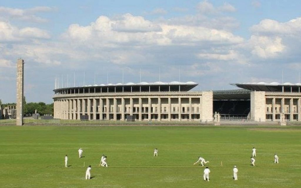 Cricket is still played today in the shadow of Berlin's Olympic Stadium (britannia1892.de)