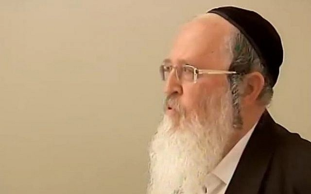 Rabbi Yaakov Deutsch, a prominent rabbi from the city of Afula in northern Israel, was sent to prison for nine years on Wednesday for committing sexual offenses against four minors. (screen capture: Channel 2)