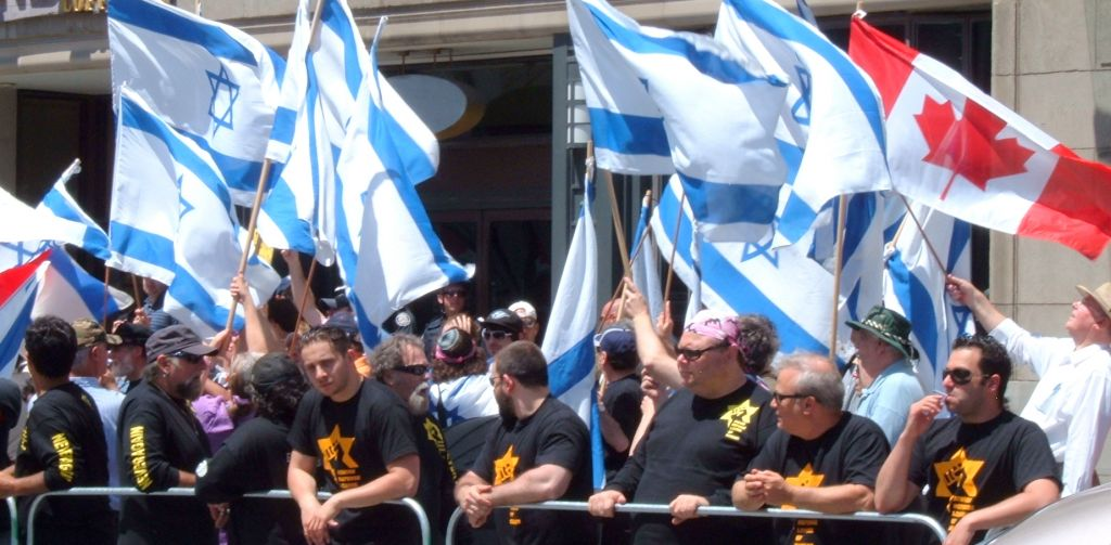 Meir Weinstein, head of the Jewish Defense League (JDL)-Canada, said he expects several hundred to join a counter-rally organized by his group. Seen here, a previous Al-Quds Day counterprotest. (courtesy)