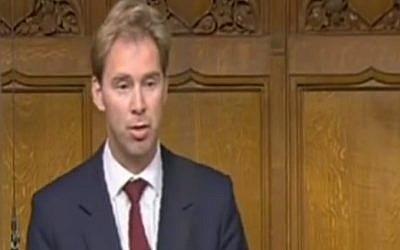 UK Minister Tobias Ellwood on June 24, 2009. (Youtube Screenshot)