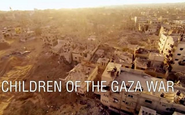 """The BBC's """"Children of the Gaza War"""" follows the lives of Israeli and Palestinian children during and after Israel's 50-day war with Hamas militants in the Gaza Strip in July/August 2014. (screen grab: YouTube)"""