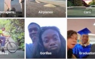 Google's new image-recognition program misfired badly this week by identifying two black people as gorillas (YouTube screen cap)