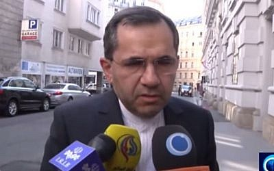Tehran's Deputy Foreign Minister and negotiator Majid Takht Ravanchi tells Iranian media on July 2, 2015 that 'one or two issues' remain in ongoing nuclear negotiations between Tehran and world powers. (screen grab: YouTube)