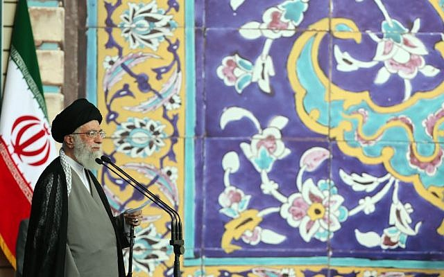 Ali Khamenei delivering an address on Saturday, July 18, 2015. (Khamenei.ir)