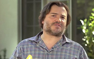 Actor Jack Black participating in a comedic video released July 28, 2015 that supports the Iran deal (YouTube screen capture)