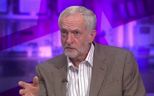 """Labour leadership candidate Jeremy Corbyn explains to BBC why he described the Islamist militant organizations Hamas and Hezbollah """"friends"""" in a July 13, 2015 interview. (screen grab: YouTube)"""