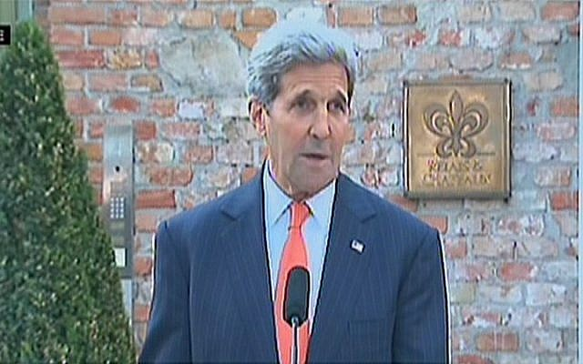 US Secretary of State John Kerry addresses the press in Vienna on Thursday, July 9, 2015 (screen capture)