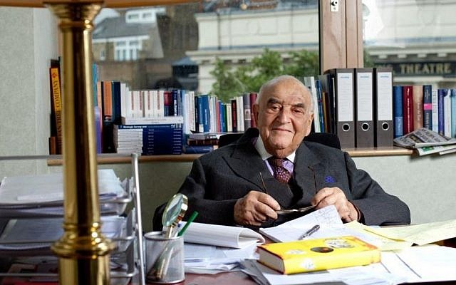 The impetus to Lord George Weidenfeld's efforts in bringing Syrian Christians to Europe stems from his escape from Vienna for the United Kingdom in 1938. In Britain he was helped by Christian organizations. (courtesy)