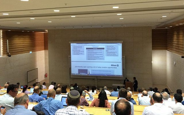 The mHealth Israel conference in Jerusalem, June 29 2015 (Courtesy)