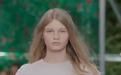 Sophia Mechetner, 14, from Holon is the new face of Christian Dior. (Screen capture / Channel 2)