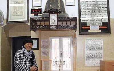 Inside P'tachiya, the first Iranian synagogue in Jerusalem. (Shmuel Bar-Am)