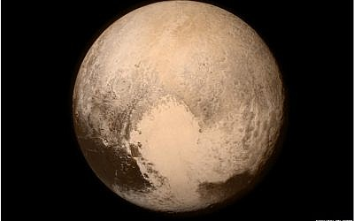 A photo of Pluto taken by the NASA's New Horizons spacecraft, Tuesday, July 14 2015 (Courtesy NASA/Johns Hopkins University Applied Physics Laboratory/Southwest Research Institute)
