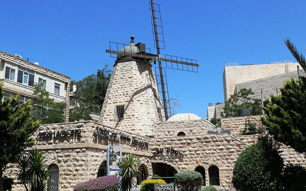 The windmill near the top of Ramban Street, erected by the Greek Orthodox Church some 150 years ago (Shmuel Bar-Am)