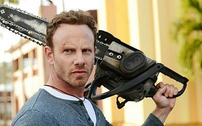 Ian Ziering plays Fin Shepard in the forthcoming movie 'Sharknado 3: Oh Hell No!' (Gene Page/Syfy via JTA)