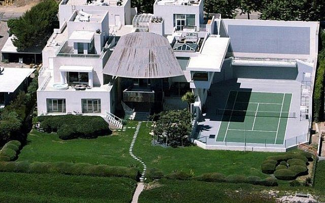 Steven Spielberg's sold Malibu compound, bordering the Pacific Ocean, which he sold for $26 million. (Rex)