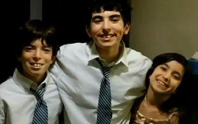 From left to right: Siblings Rowie (10), Liam (14) and Nathalie (9), who were released July 10 from juvenile detention in Michigan. (YouTube screen capture)