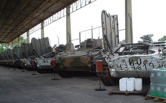 Argentina's TAM tanks during a UN peacekeeping mission to Croatia on December 1, 2006. (CC BY-SA Alexav8, Wikimedia Commons)