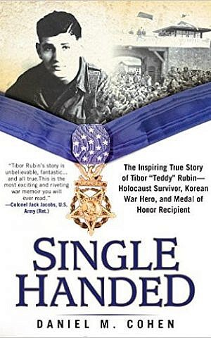 The cover of 'Single-handed' about Holocaust survivor turned hero Tibor Rubin. (courtesy)