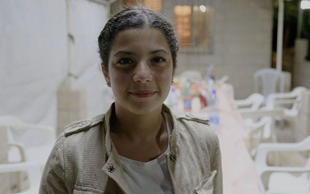 Zeina after the iftar at her Beit Hanina home (Eric Cortellessa/Times of Israel)