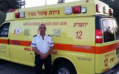 Israeli-Arab Magen David Adom paramedic Ziad Dawiyat (Courtesy/MDA)