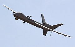 Illustrative photo of a US-made Reaper drone. (Dominique Faget/AFP)