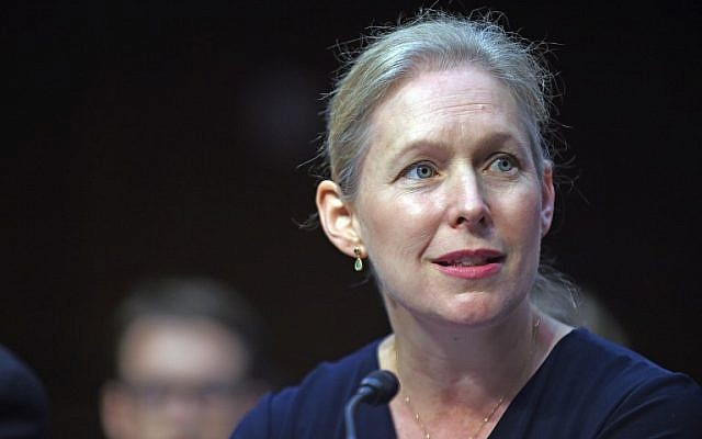 Sen. Kirsten Gillibrand (D-NY) testifies during a hearing in Washington, DC, on July 29, 2015. (Astrid Riecken/Getty Images/AFP)
