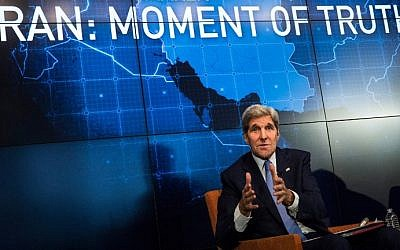 US Secretary of State John Kerry speaks about the Iran deal on August 11, 2015 in New York City (Andrew Burton/Getty Images/AFP)