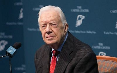 Former President Jimmy Carter discusses his cancer diagnosis during a press conference at the Carter Center on August 20, 2015 in Atlanta, Georgia. (Jessica McGowan/Getty Images/AFP)