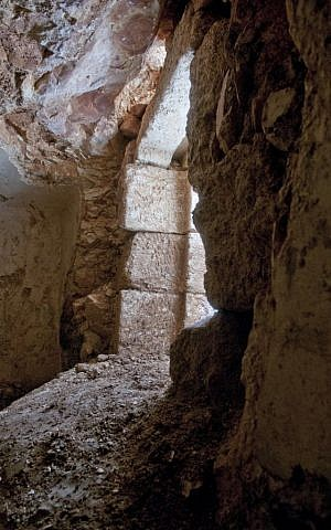 The opening to a ritual bath recently discovered in Jerusalem (Shai Halevy, IAA)