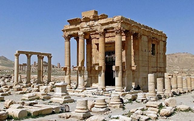 The Temple of Baal Shamin in Palmyra, Syria, seen in a photograph from 2010. (CC, BY-SA, Bernard Gagnon/Wikimedia)