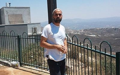 Spokesperson for Yitzhar Ezri Tubi. (Simona Weinglass)