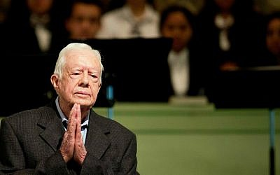 Former president Jimmy Carter teaches Sunday School class at Maranatha Baptist Church in his hometown Sunday, Aug. 23, 2015, in Plains, Georgia. (AP Photo/David Goldman)
