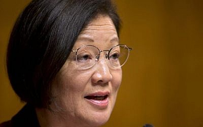 Mazie Hirono speaks on Capitol Hill in Washington on March 18, 2013  (Jacquelyn Martin/AP)